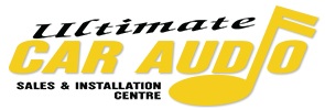 Ultimate Car Audio and Video: Car Alarms, Remote Starters, Window Tinting and Installations, Oshawa Logo